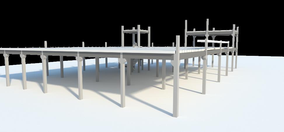 Figura 2: Modelo estrutural em concreto pré-fabricado.
